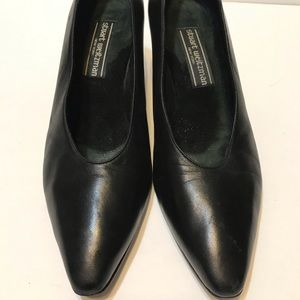 Stuart Weitzman Blk Leather Pumps Sz 7.5